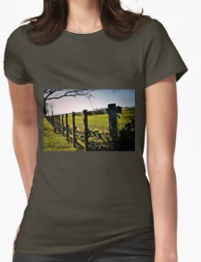 Rural Boundaries... Womens Fitted T-Shirt