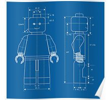 Everything is Awesome - Lego Blueprint Poster