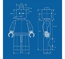 Everything is Awesome - Lego Blueprint Photographic Print