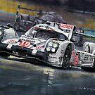 2015 Le Mans 24 LMP1 WINNER Porsche 919 Hybrid Bamber Tandy Hulkenberg by Yuriy Shevchuk