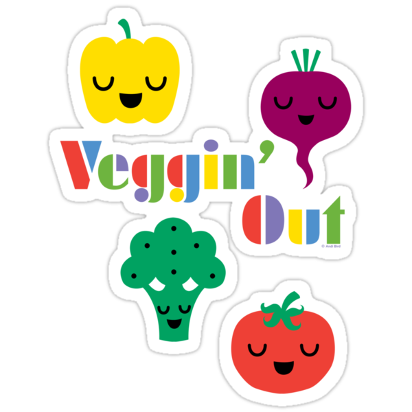 Veggin' Out (colored type) dark by Andi Bird