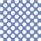 Blue with White Polka Dots Throw Pillow by Natalie Kinnear