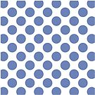 White with Blue Polka Dots Throw Pillow by Natalie Kinnear