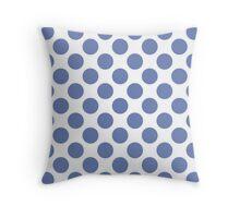 White with Blue Polka Dots Throw Pillow