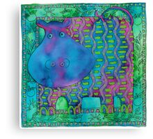 Patterned Hippo Canvas Print