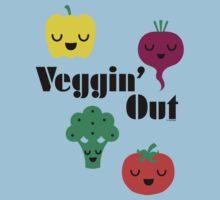 veggin' Out (black type)  Kids Clothes