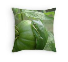 Layers of Green Throw Pillow
