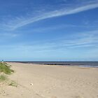Almost Deserted Beach, Skegness by Rod Johnson