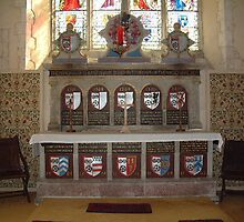 Altar at St Mary The Virgin, Bradbourne. by Dave Godden