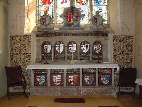Altar at St Mary The Virgin, Bradbourne. by Dave Godden