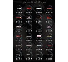 James Bond 007 Infographic Photographic Print