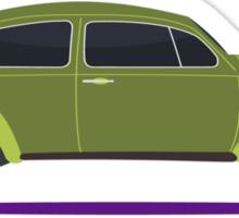 green car Sticker