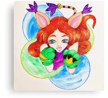 Kawaii Girl Canvas Print