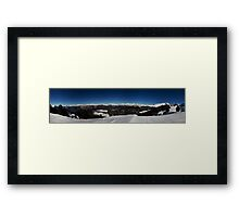 Mountain Ranges Framed Print