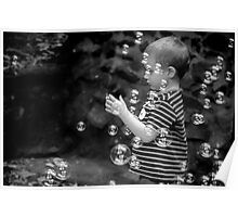 The Boy, the Bubbles and a Party Ring Poster