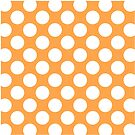 Orange with White Polka Dots Throw Pillow by Natalie Kinnear