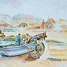 Coble Cullercoats c1900  by Woodie