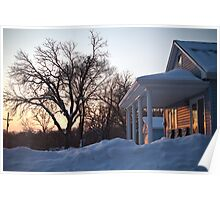 A Perfect Winter Sunset Poster