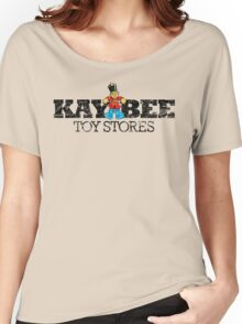 KAY BEE TOYS VINTAGE DISTRESSED LOGO KB Women's Relaxed Fit T-Shirt