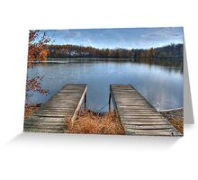 Twin Docks Greeting Card