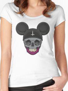 Skull Idols - Mickey Women's Fitted Scoop T-Shirt