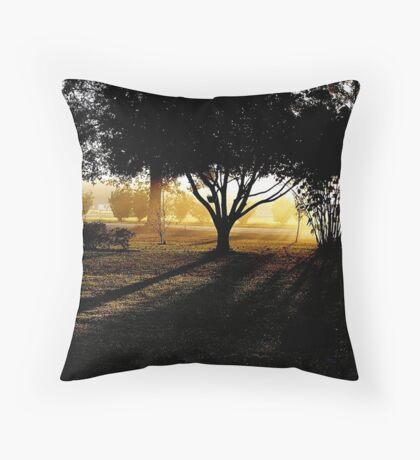 Georgia's Morning Glow Throw Pillow