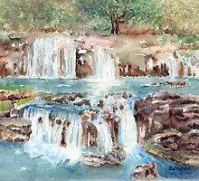 Many Waterfalls by arline wagner