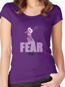 Fear Inside out Women's Fitted Scoop T-Shirt