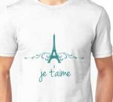 Teal Vintage French Flourish Unisex T-Shirt