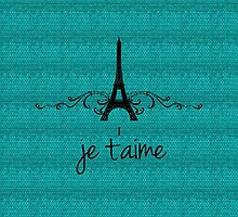 Teal Vintage French Flourish by superstarbing