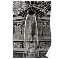 Gargoyle in Black and White Poster