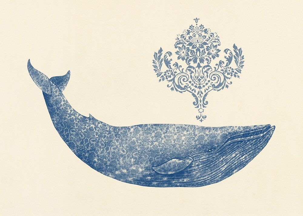 Damask Whale  by Terry  Fan