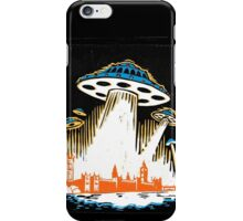 London under attack by UFOs iPhone Case/Skin