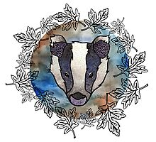 Brock the Badger Photographic Print