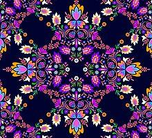 Mexican Folk pattern by Elena Belokrinitski