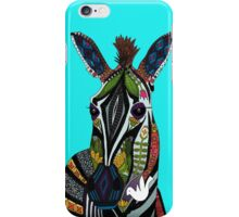 zebra love turquoise iPhone Case/Skin