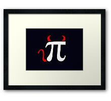 Devil Pi Framed Print