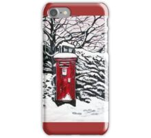 The Red Post Box  iPhone Case/Skin
