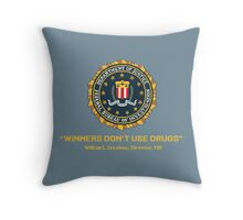 Winners Don't Use Drugs Throw Pillow
