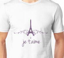 Purple Vintage French Flourish Unisex T-Shirt