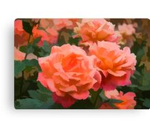 Happy, Fragrant Roses - Impressions of June Canvas Print