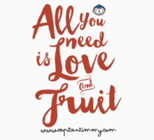 Capitan Timmy - All you need is Love and Fruit One Piece - Short Sleeve