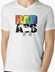Radass Unicorn Mens V-Neck T-Shirt
