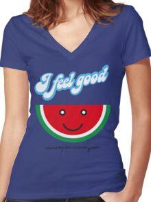 Capitan Timmy - I Feel good Women's Fitted V-Neck T-Shirt