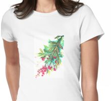 Christmas Holly T Shirt Womens Fitted T-Shirt
