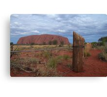 fenced off ....... Canvas Print