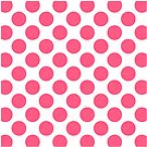 White with Pink Polka Dots Throw Pillow by Natalie Kinnear