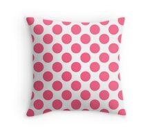 White with Pink Polka Dots Throw Pillow