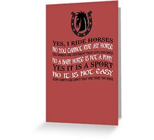 The Best Horse Design Ever! Greeting Card