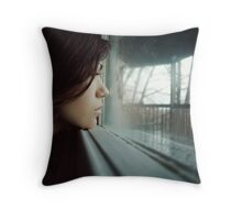 see past yourself Throw Pillow